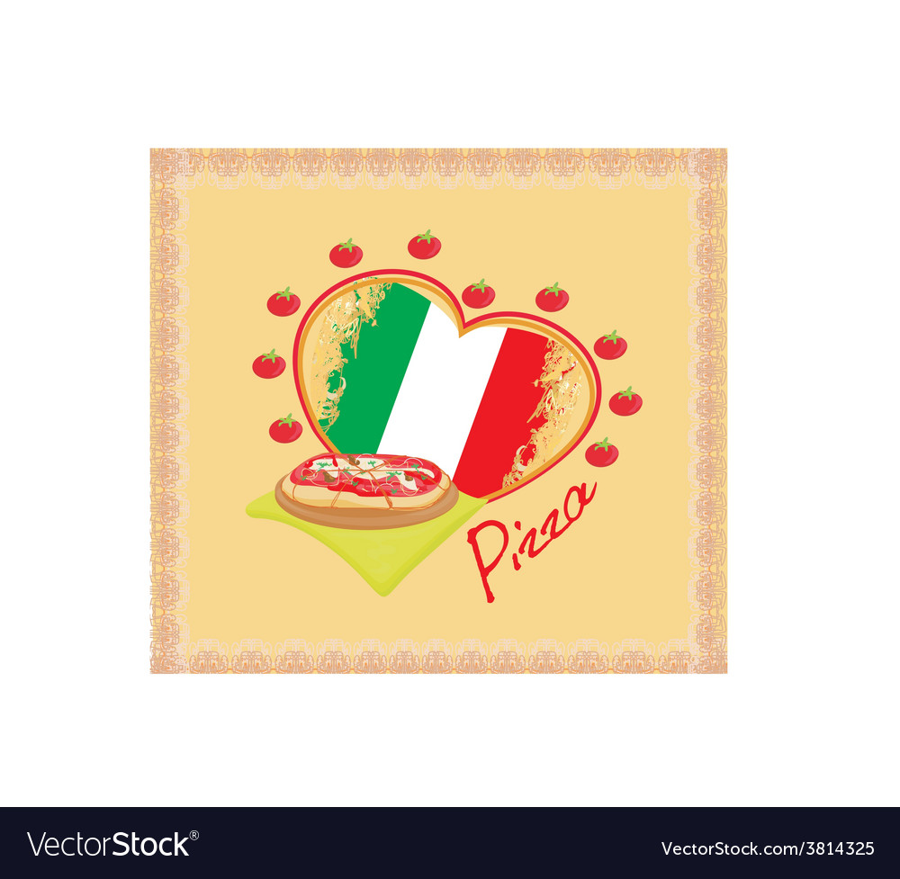 Pizza grunge poster vector   Price: 1 Credit (USD $1)