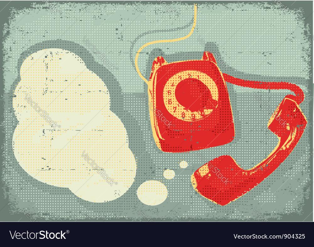 Retro old telephone vector | Price: 1 Credit (USD $1)
