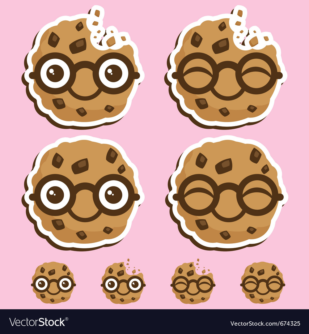 Smart cookie cartoon vector | Price: 1 Credit (USD $1)