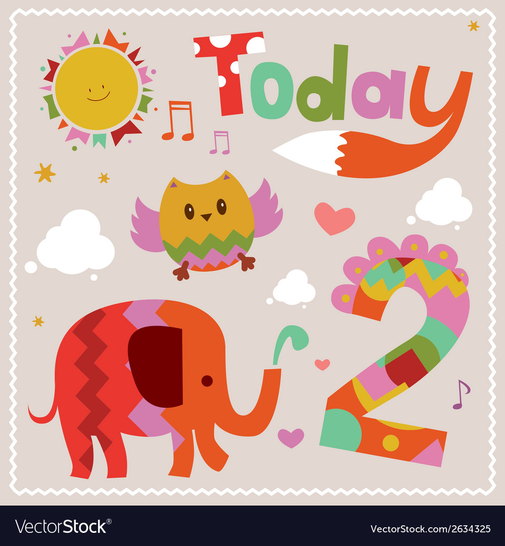 Today is 2 holiday card vector | Price: 1 Credit (USD $1)