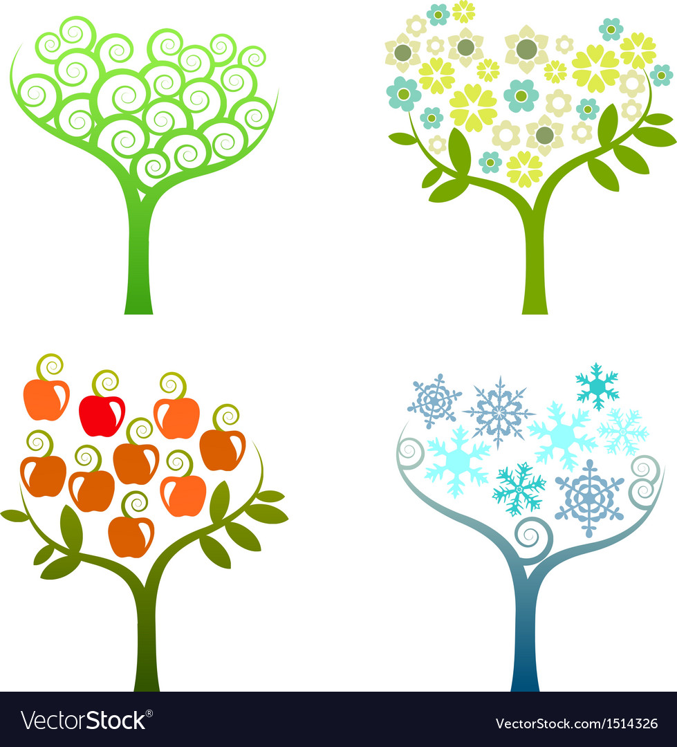 Abstract tree - graphic element - four seasons vector | Price: 3 Credit (USD $3)