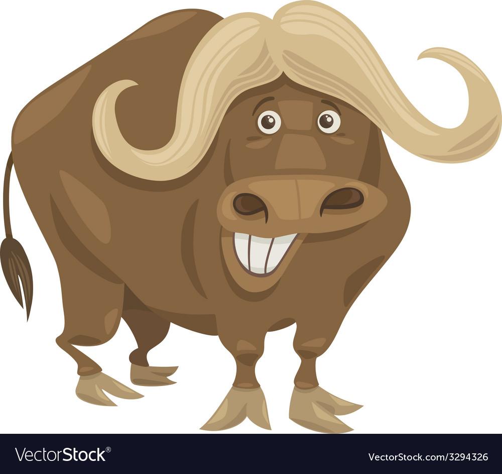 African buffalo cartoon vector | Price: 1 Credit (USD $1)