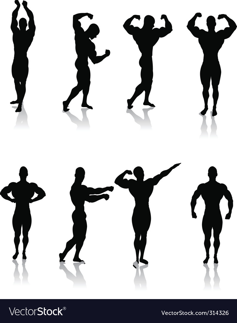 Classic bodybuilding poses vector | Price: 1 Credit (USD $1)