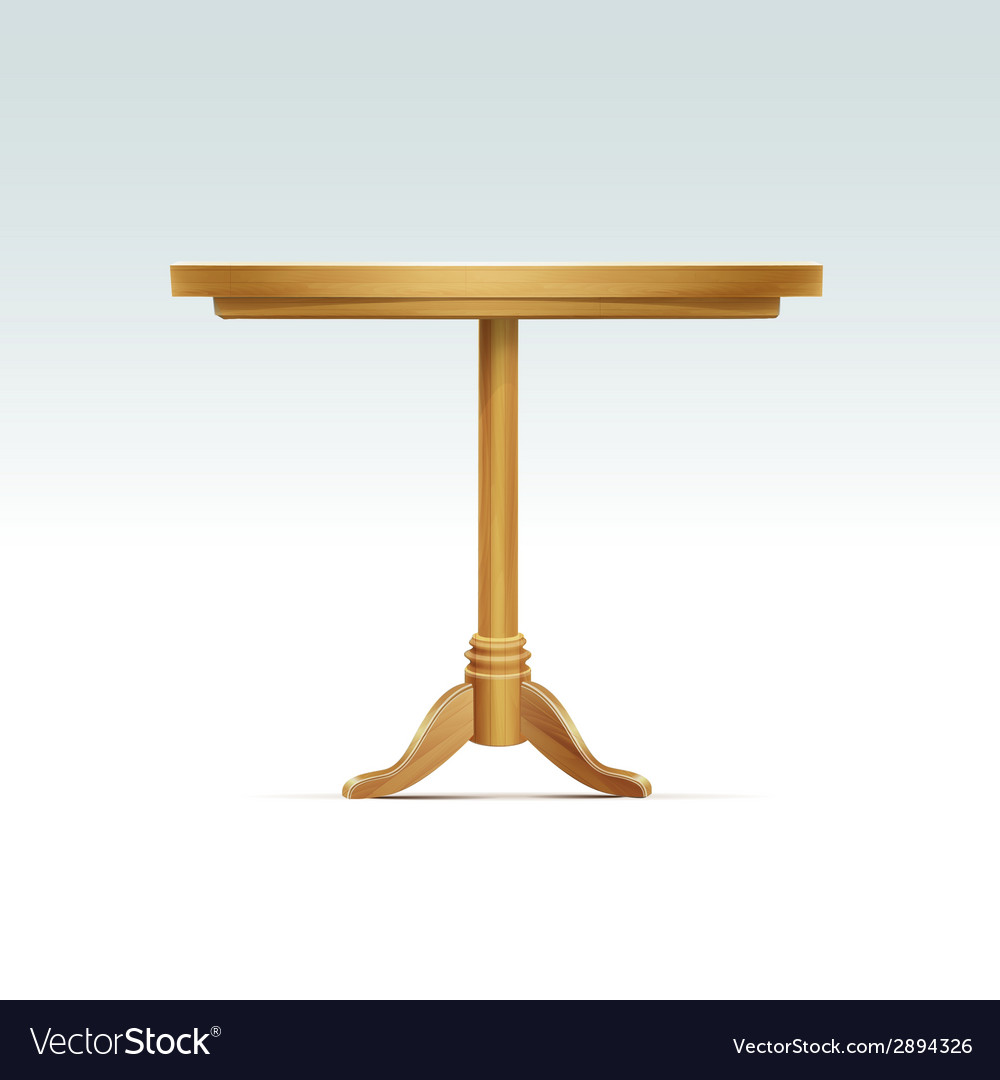 Empty round wood table vector | Price: 1 Credit (USD $1)