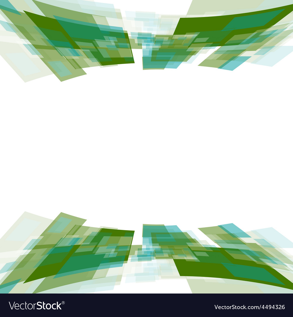 Green motion squares on white vector | Price: 1 Credit (USD $1)