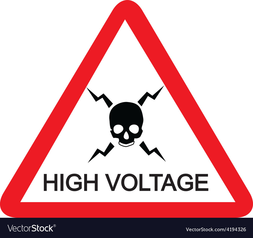 High voltage sign vector | Price: 3 Credit (USD $3)