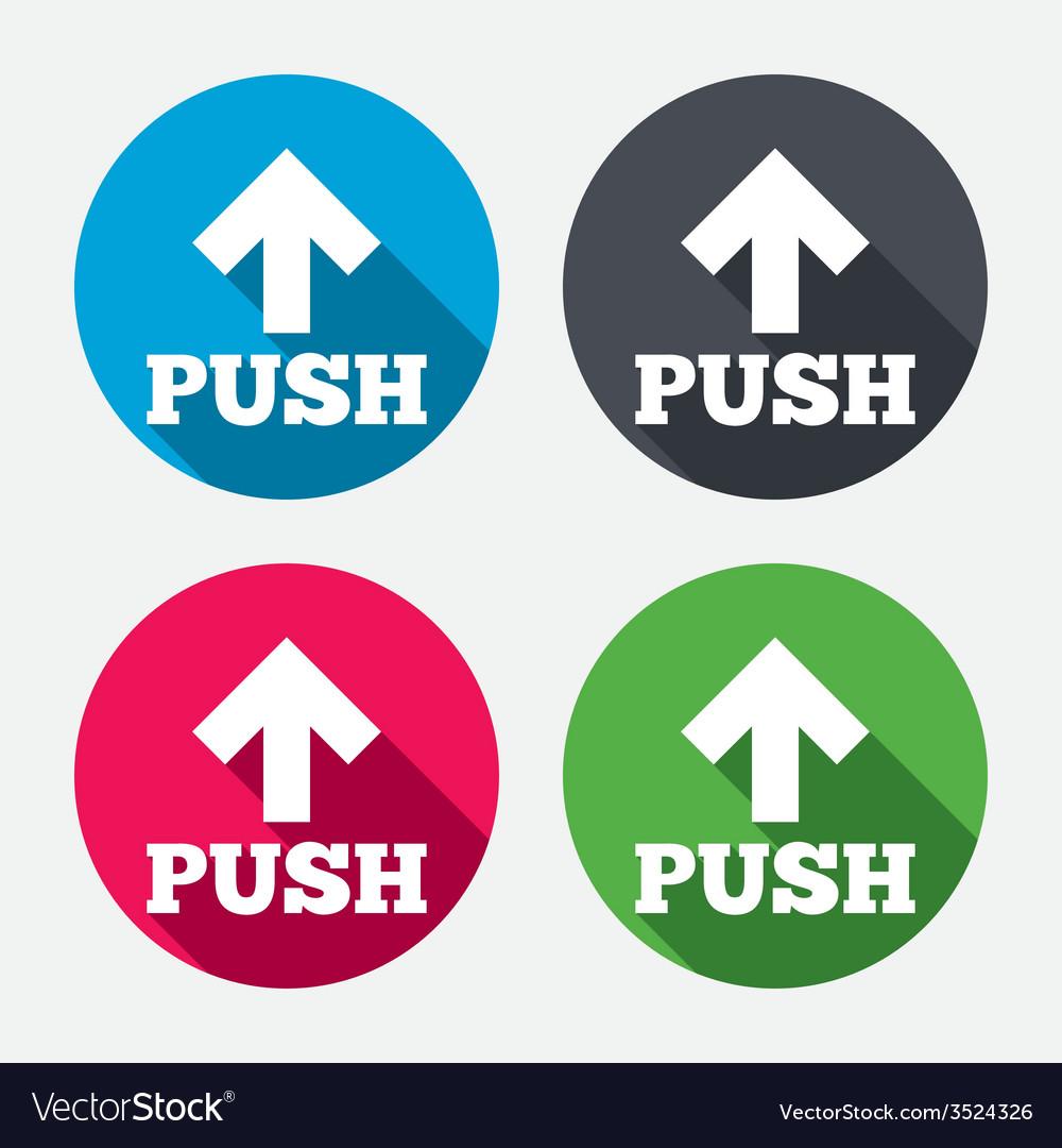 Push sign icon press arrow symbol vector | Price: 1 Credit (USD $1)