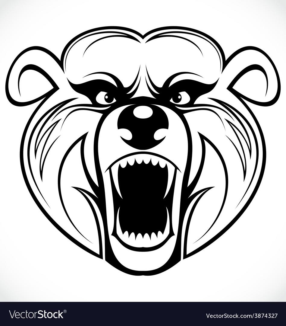Bear head tribal vector   Price: 1 Credit (USD $1)
