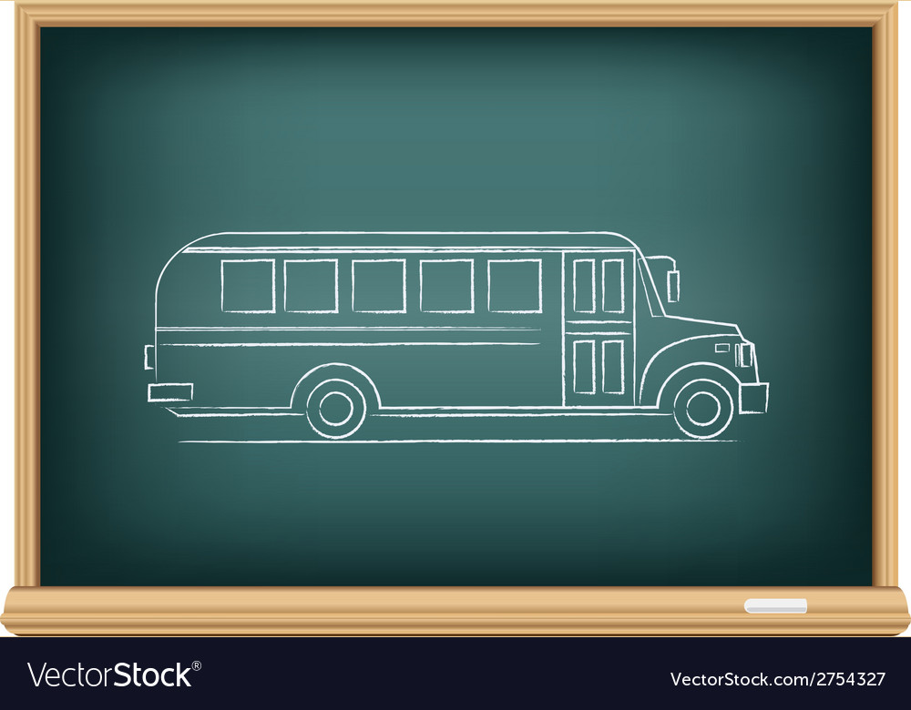 Board school bus side view vector | Price: 1 Credit (USD $1)