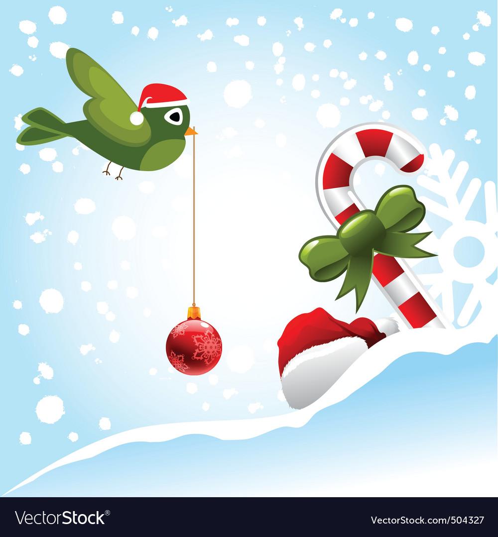 Christmas bird vector | Price: 1 Credit (USD $1)