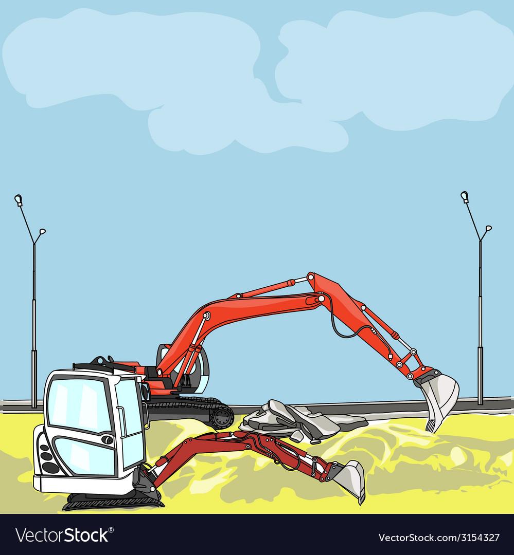 Excavator vector   Price: 1 Credit (USD $1)