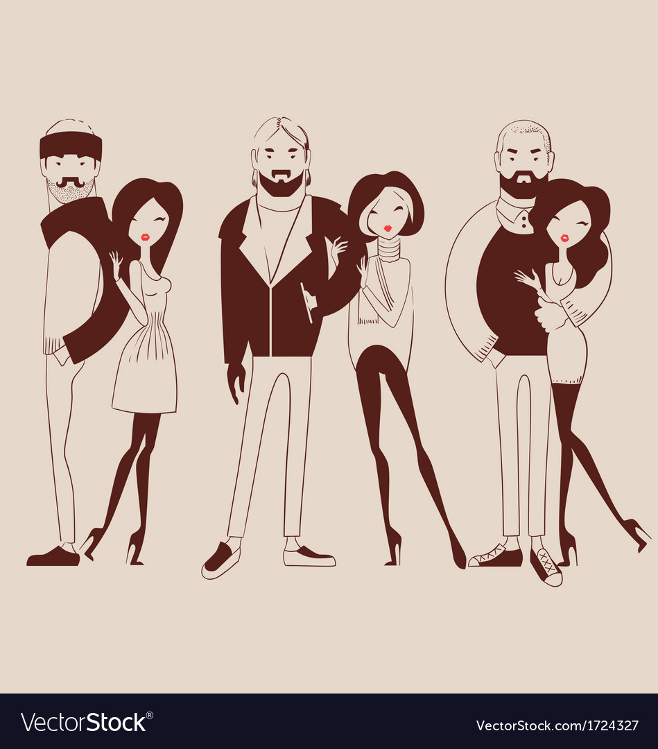 Fashion people man and woman vector | Price: 1 Credit (USD $1)