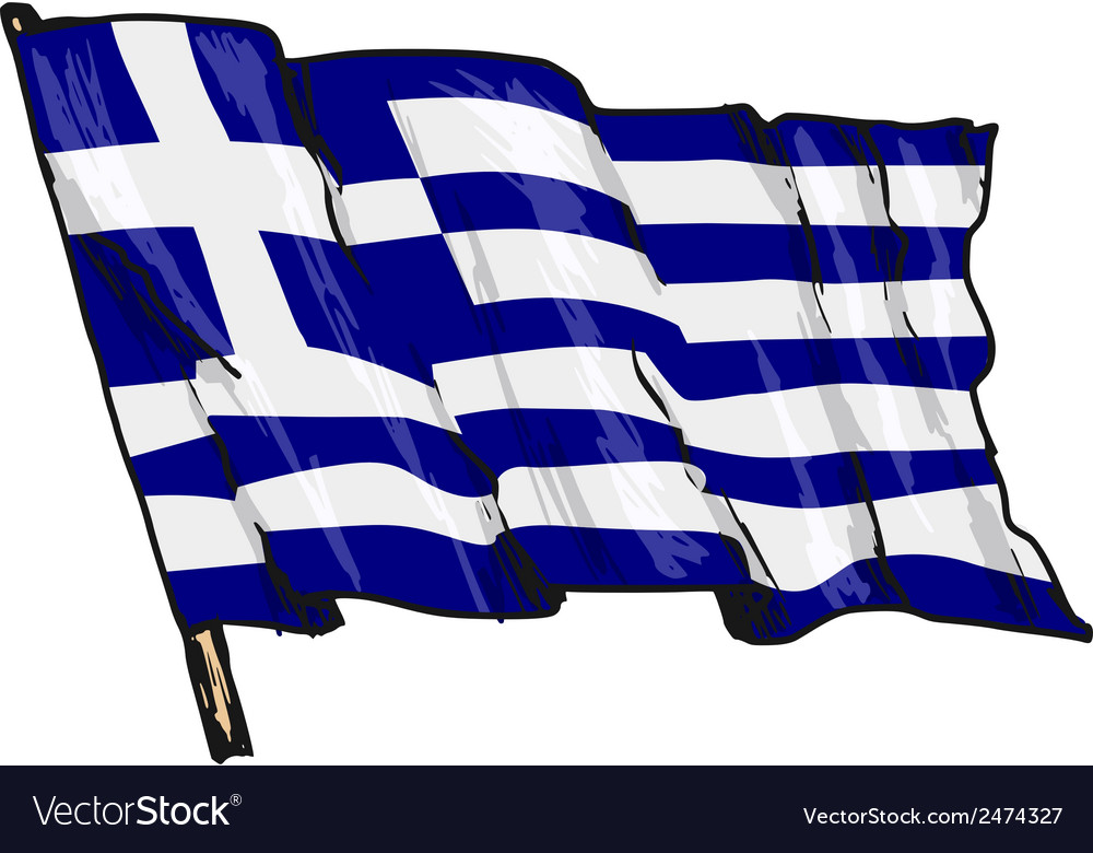 Flag of greece vector | Price: 1 Credit (USD $1)