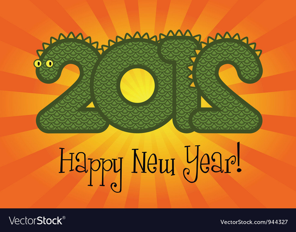 Happy new year 2012 vector | Price: 1 Credit (USD $1)