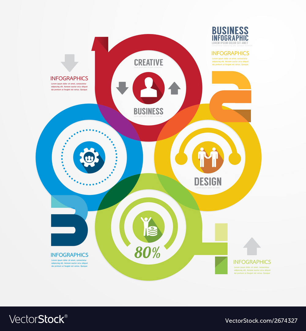 Modern design infographic circle templatecan vector | Price: 1 Credit (USD $1)