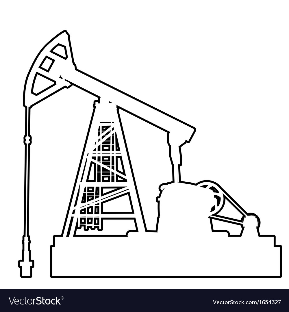 Oil pumpjack oil industry equipment vector | Price: 1 Credit (USD $1)
