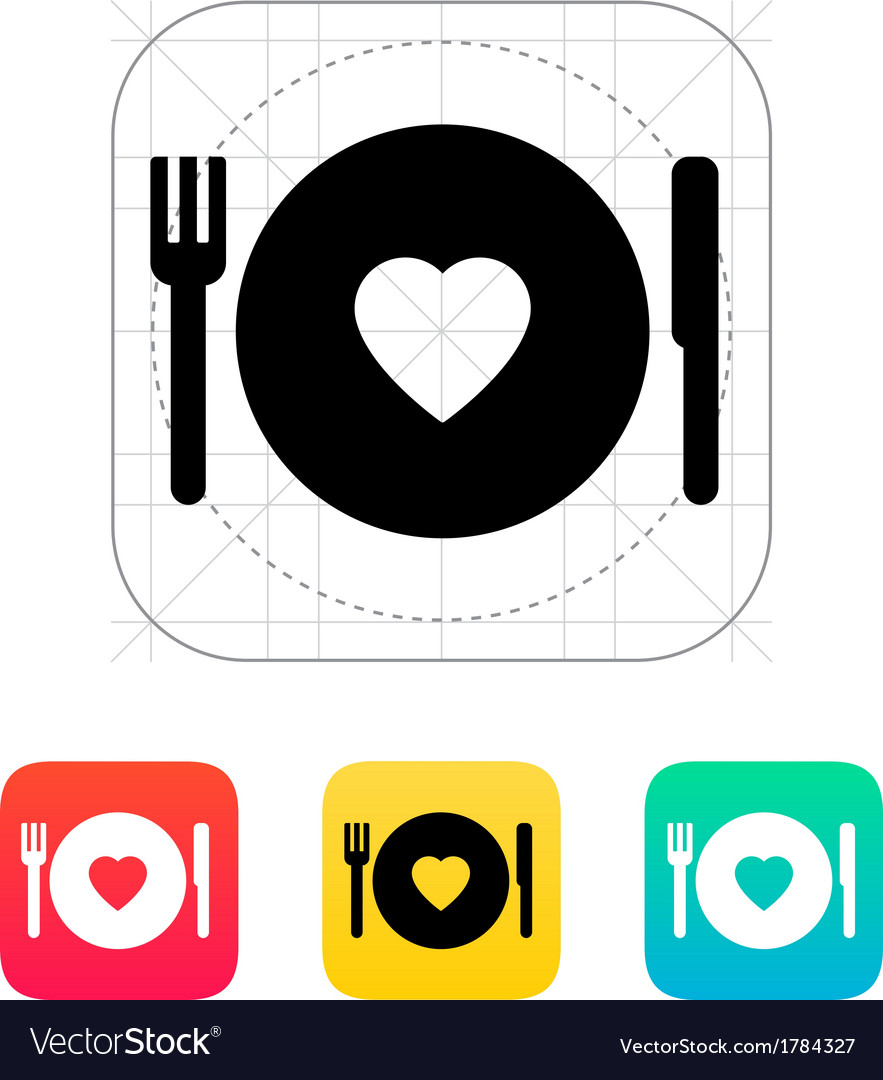 Romantic dinner icon vector | Price: 1 Credit (USD $1)