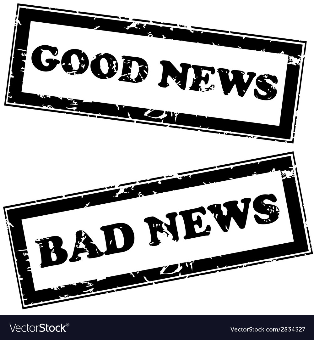Rubber stamps with good news and bad news vector | Price: 1 Credit (USD $1)
