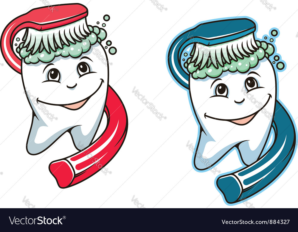 Toothbrush and dental paste vector | Price: 1 Credit (USD $1)