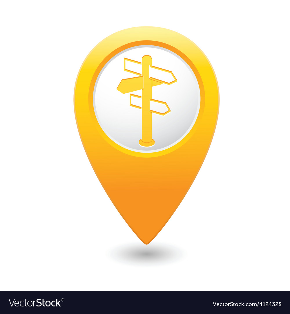 Direct map pointer yellow vector | Price: 1 Credit (USD $1)