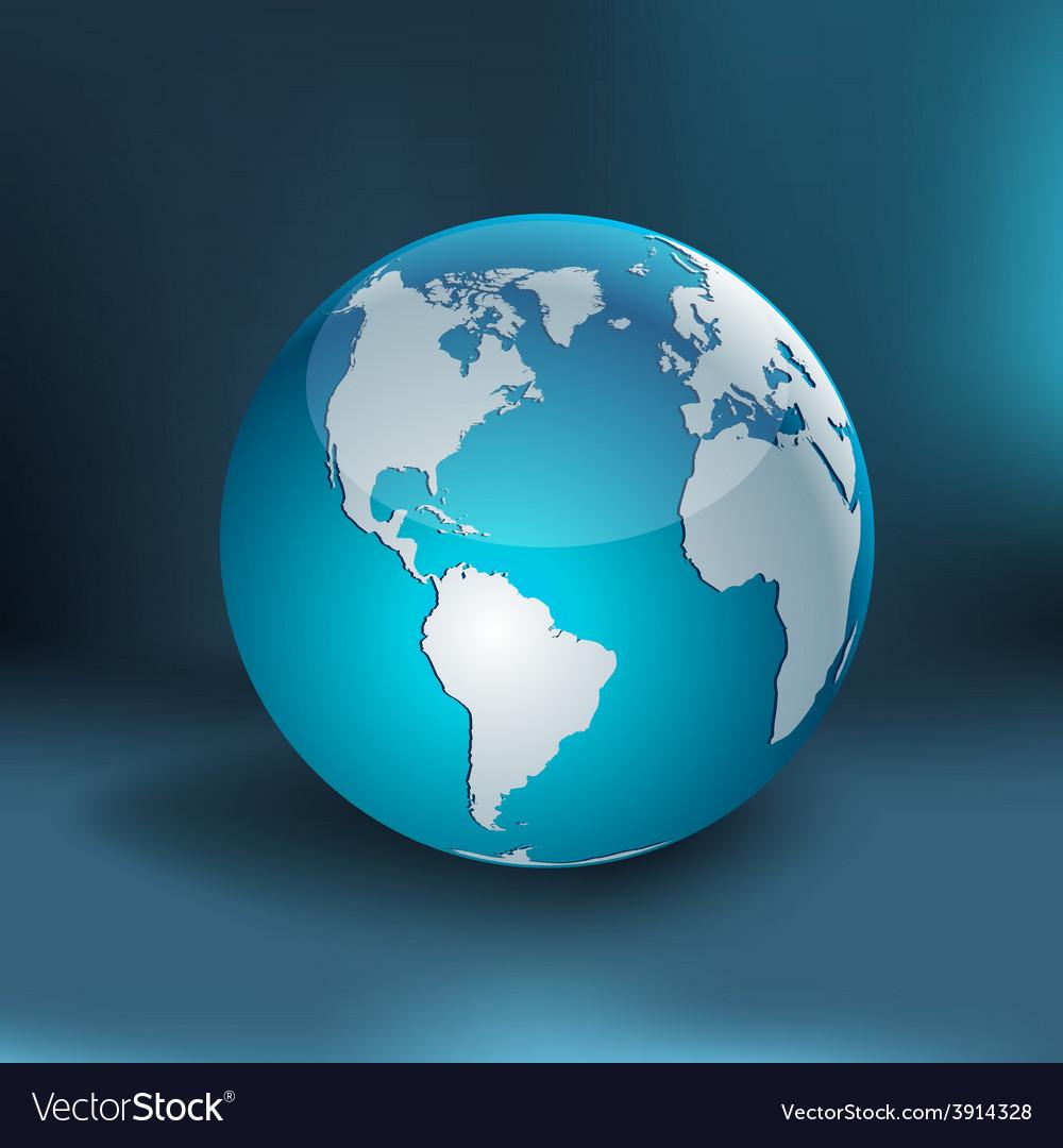 Earth - america vector | Price: 1 Credit (USD $1)