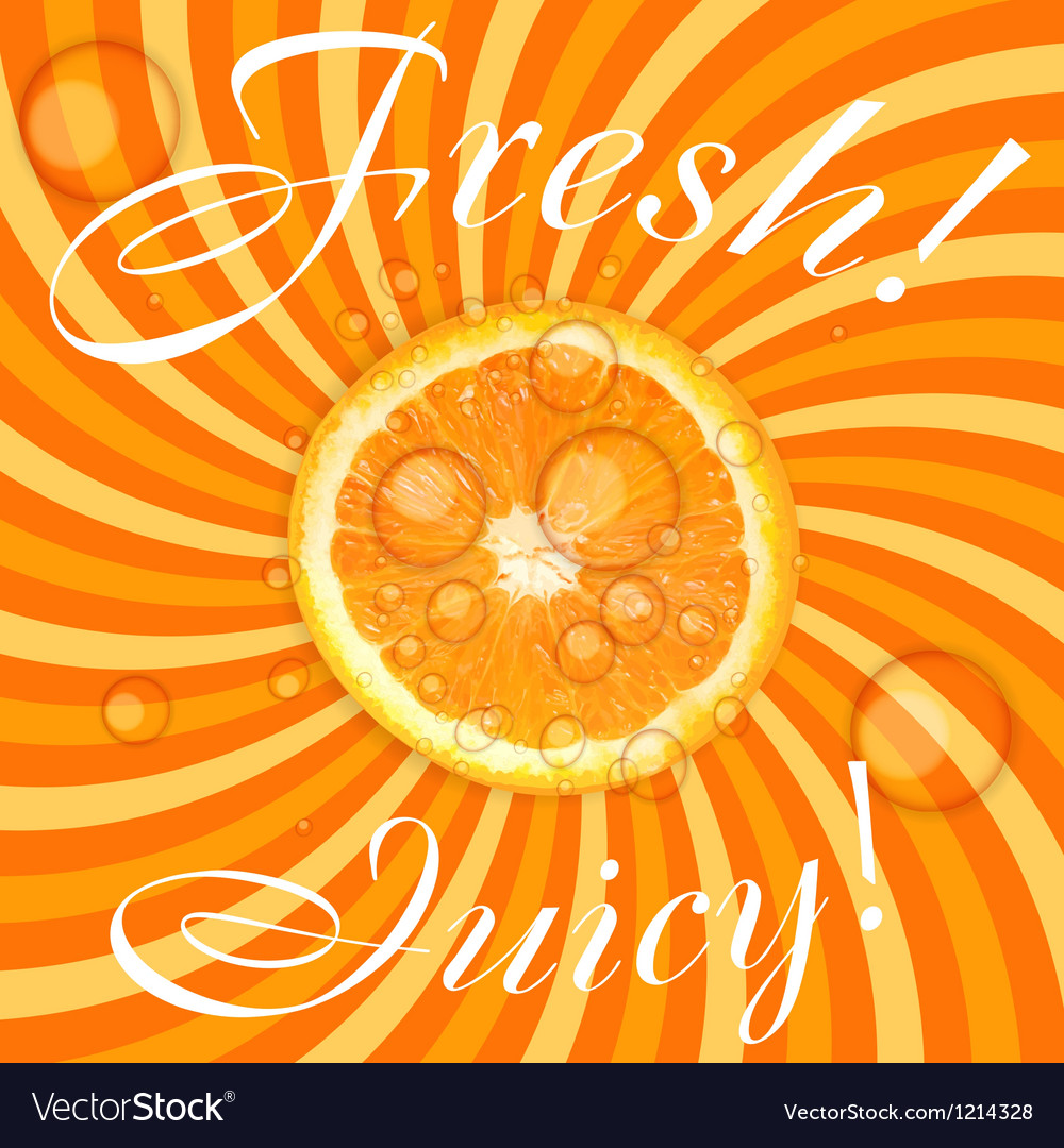 Fresh juicy orange background vector | Price: 1 Credit (USD $1)