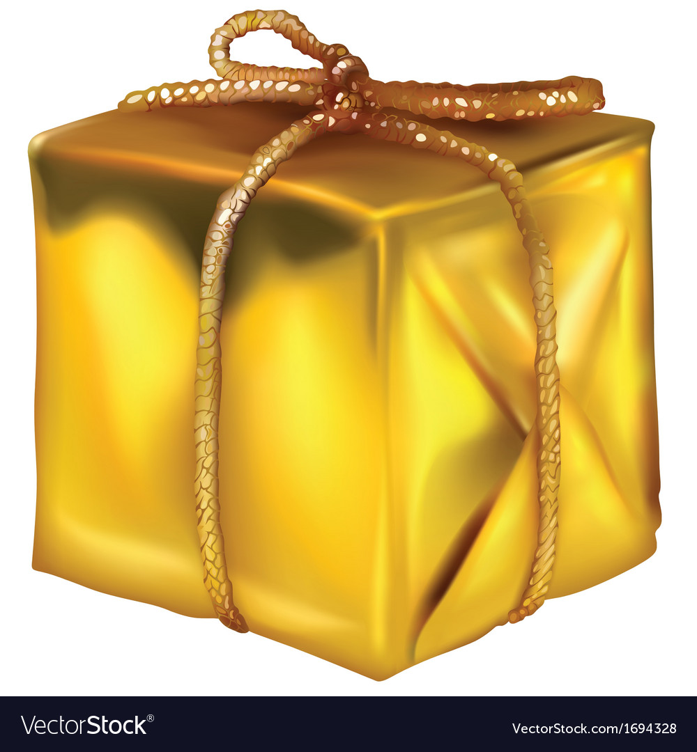 Gold christmas present vector | Price: 1 Credit (USD $1)