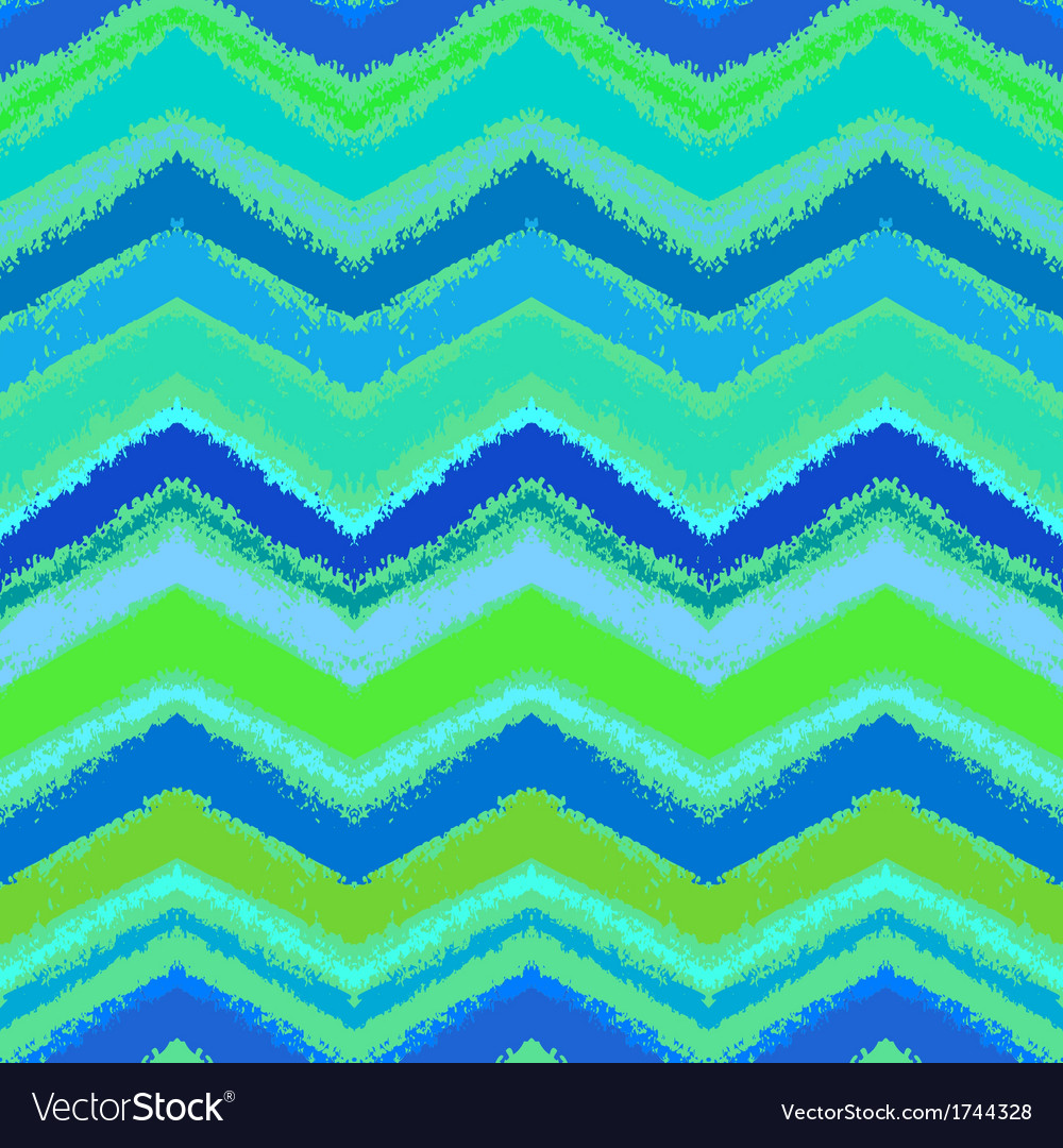 Hand drawn zigzag pattern in aqua blue vector | Price: 1 Credit (USD $1)