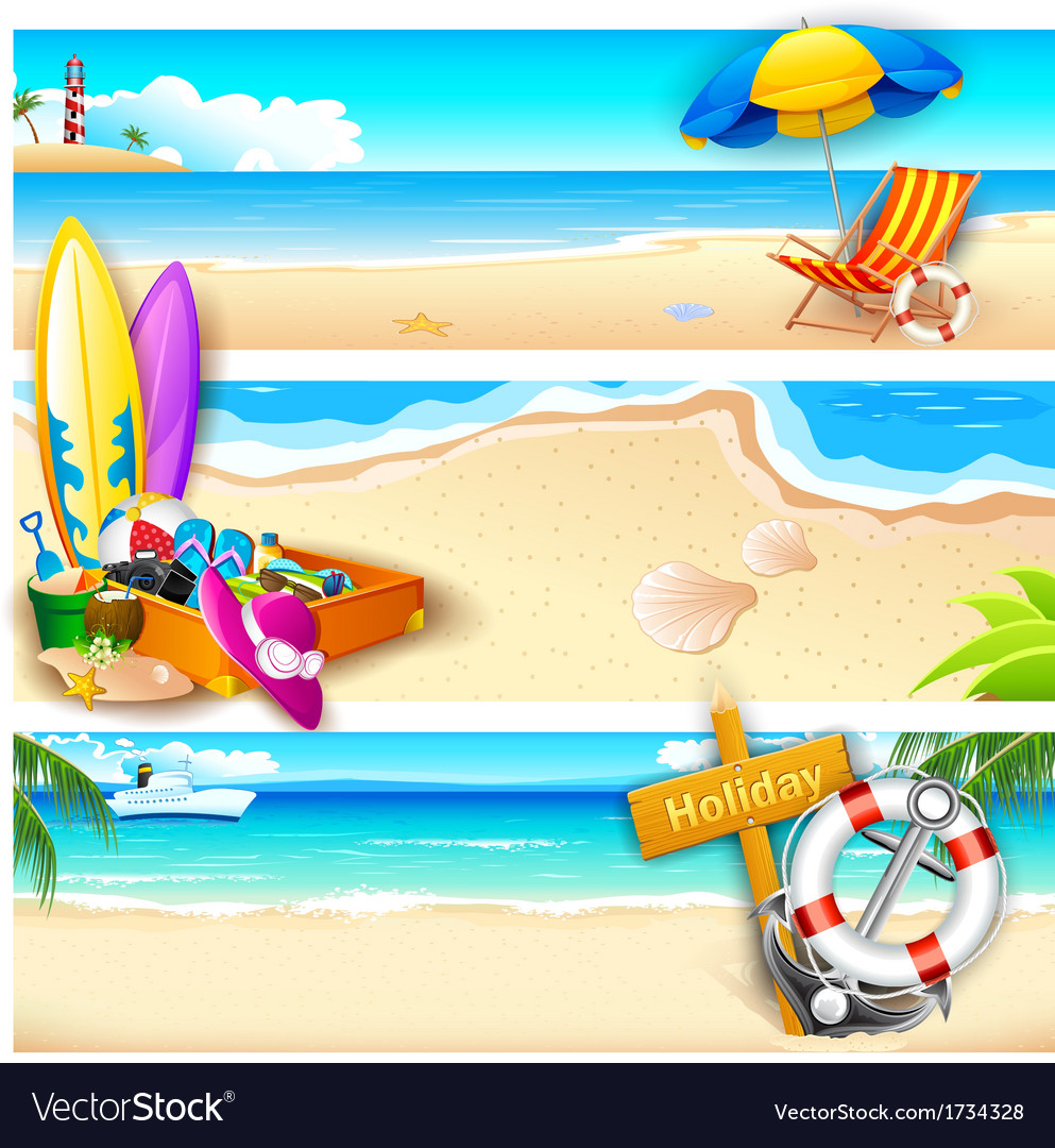 Holiday on beach vector | Price: 1 Credit (USD $1)