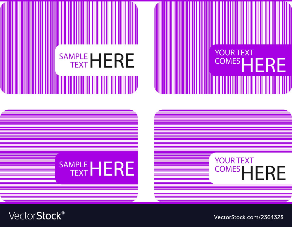 Modern business cards with purple stripes vector | Price: 1 Credit (USD $1)