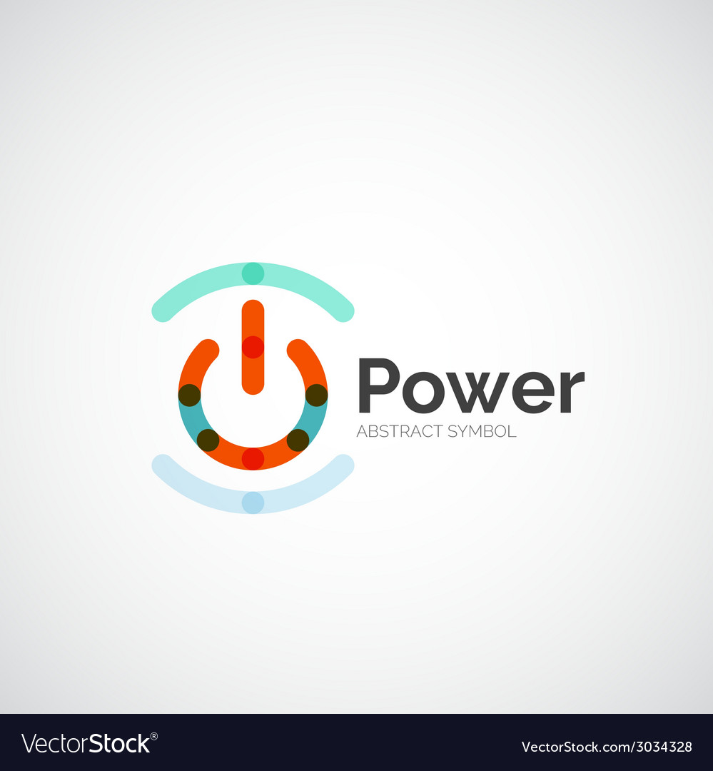 Power button logo design vector | Price: 1 Credit (USD $1)