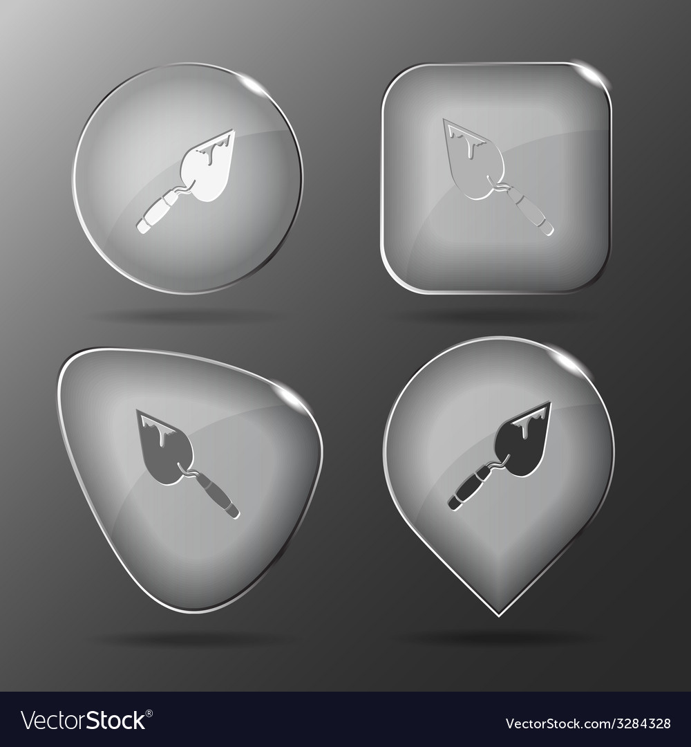 Trowel glass buttons vector | Price: 1 Credit (USD $1)