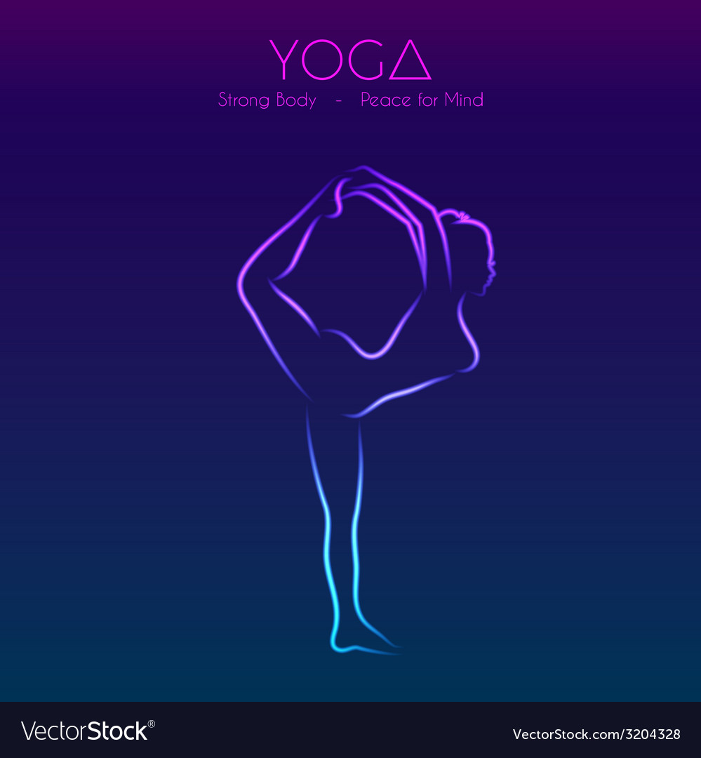 Yoga pose womans silhouette vector | Price: 1 Credit (USD $1)