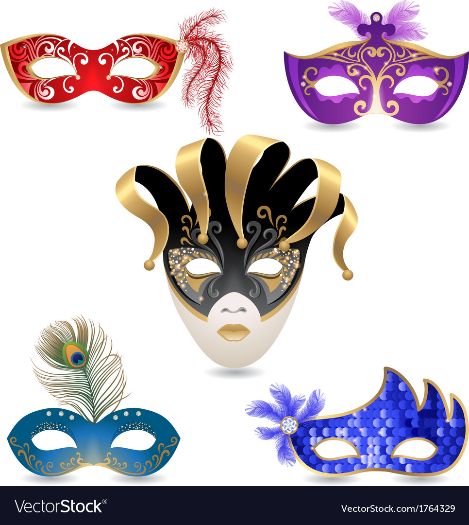 Carnival masks vector | Price: 1 Credit (USD $1)