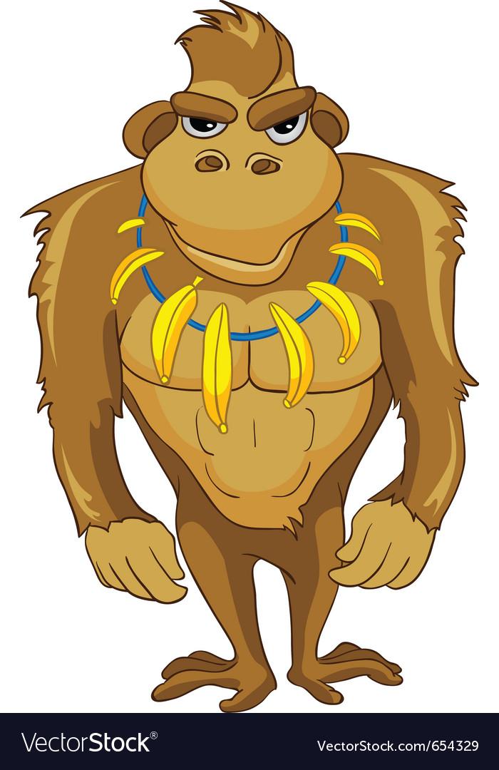 Cartoon character monkey vector | Price: 3 Credit (USD $3)