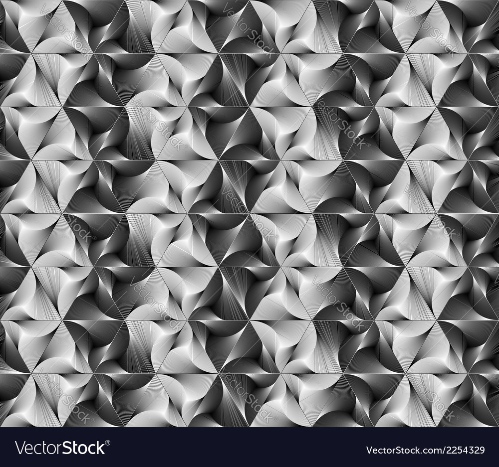 Design seamless monochrome triangle pattern vector | Price: 1 Credit (USD $1)