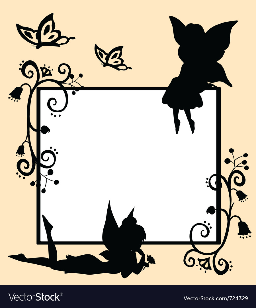 Fairies silhouette vector | Price: 1 Credit (USD $1)