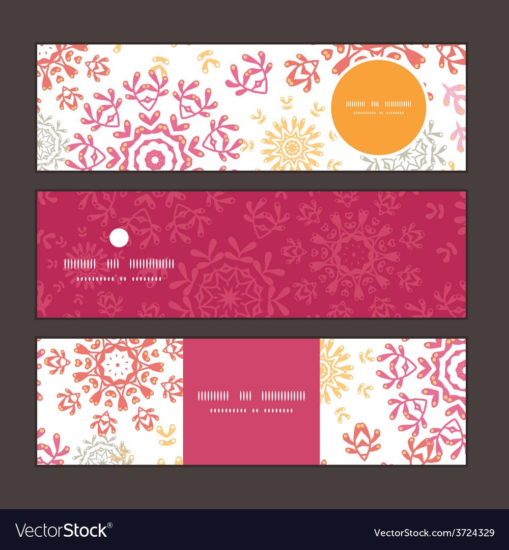 Folk floral circles abstract horizontal vector   Price: 1 Credit (USD $1)