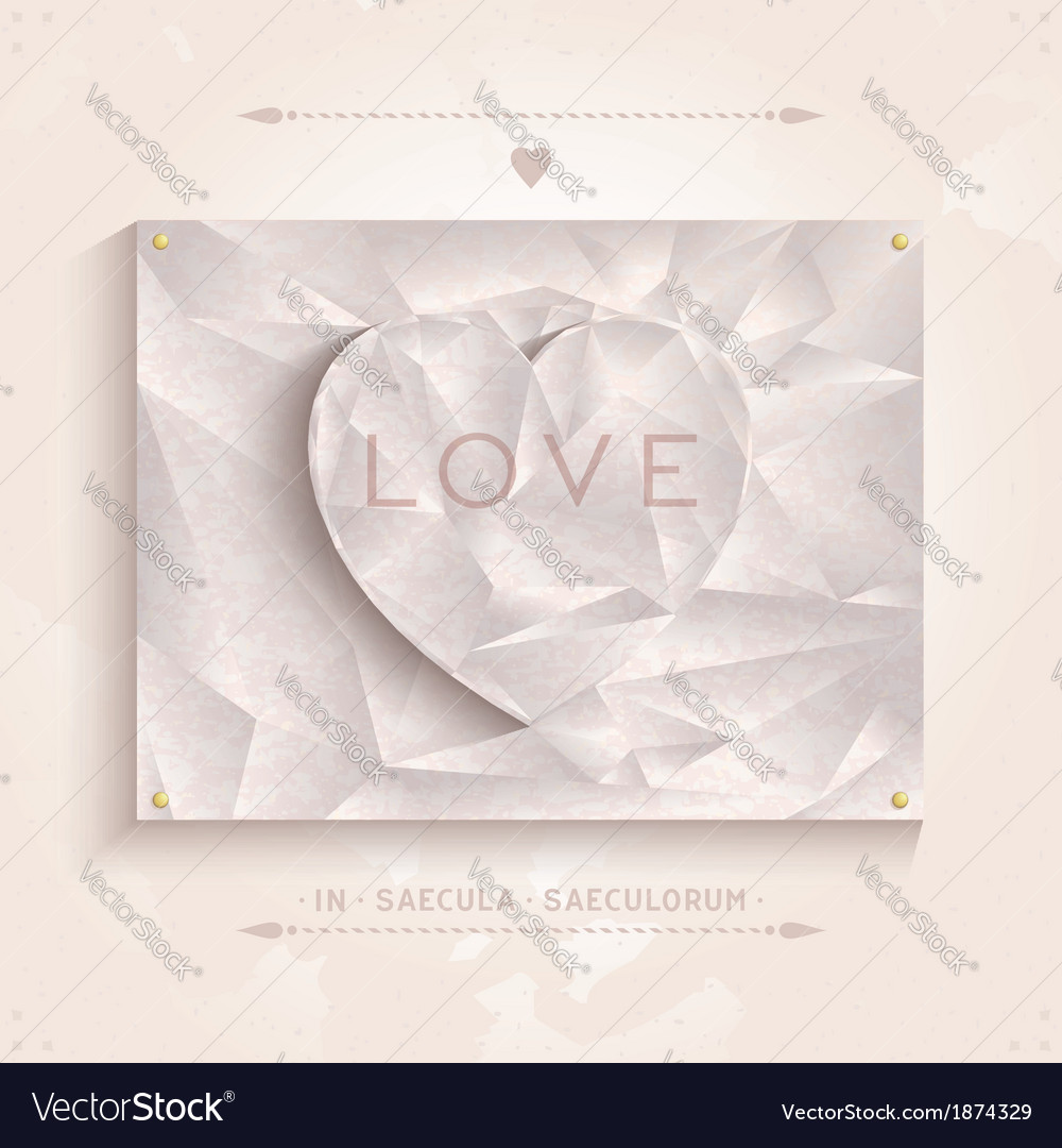 Geometric heart love of antique marble vector | Price: 1 Credit (USD $1)
