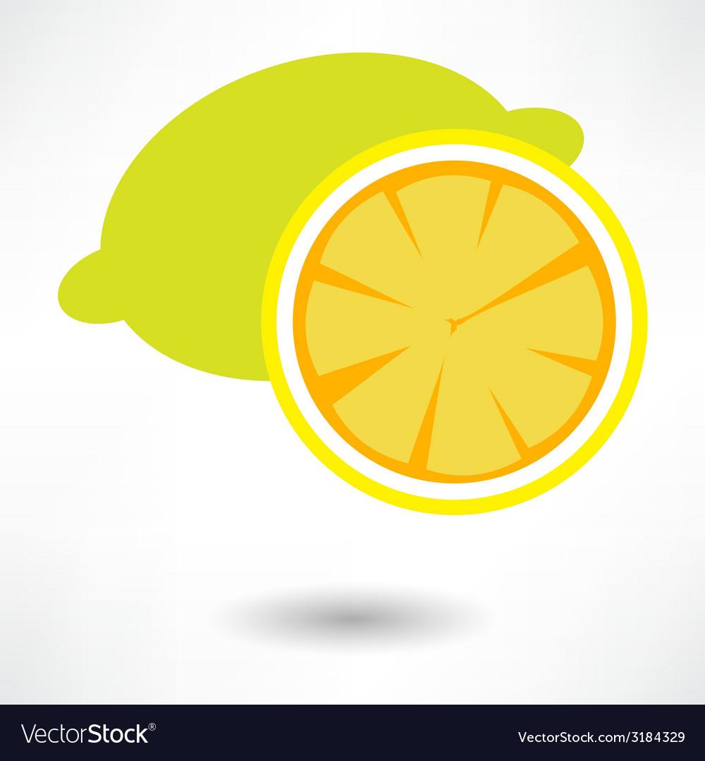 Lemon icon vector | Price: 1 Credit (USD $1)