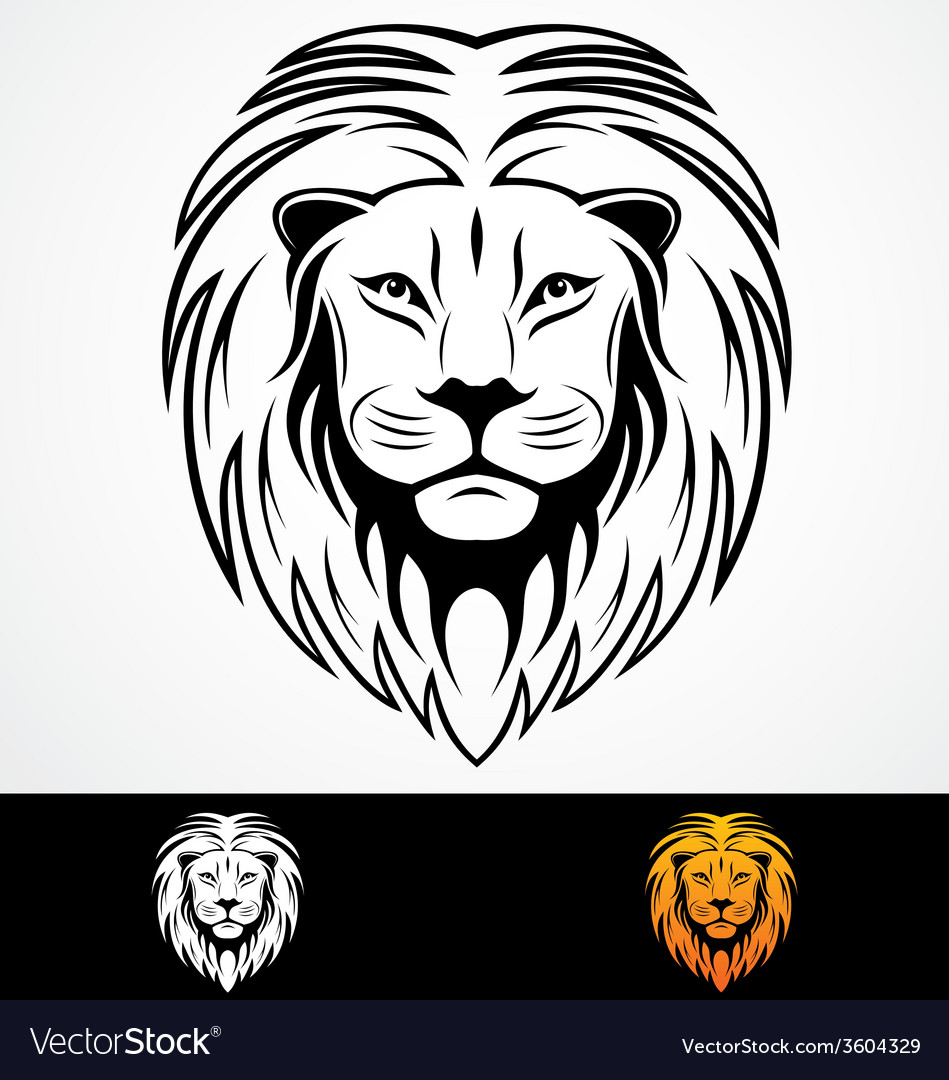 Lions head tribal mascot vector | Price: 1 Credit (USD $1)