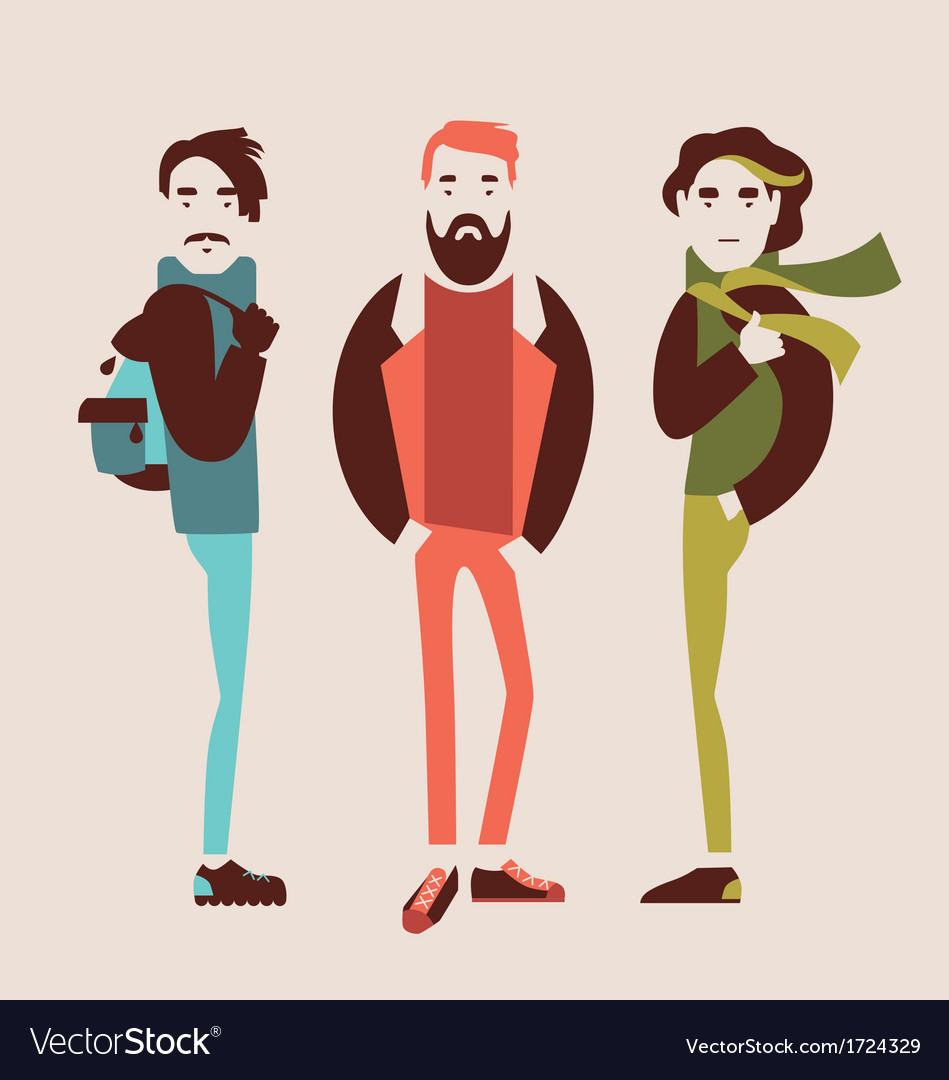 Man in fashion clothes vector | Price: 1 Credit (USD $1)