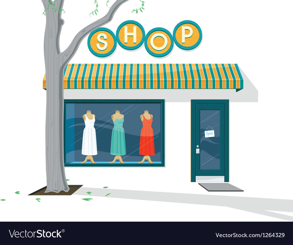 Shop exterior vector | Price: 3 Credit (USD $3)