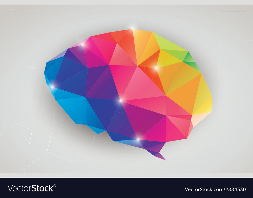 Abstract geometric human brain triangles vector | Price: 1 Credit (USD $1)