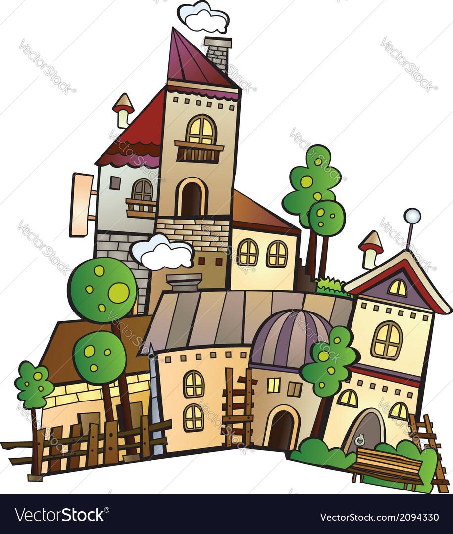 Cartoon construction town vector | Price: 1 Credit (USD $1)