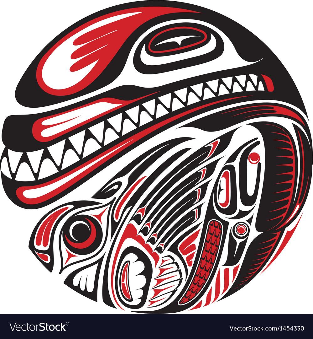 Haida style tattoo design vector | Price: 1 Credit (USD $1)