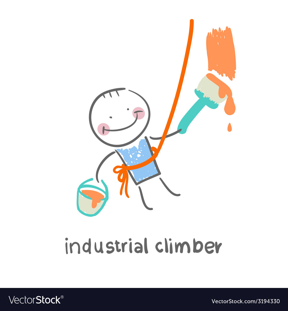 Industrial climber vector | Price: 1 Credit (USD $1)