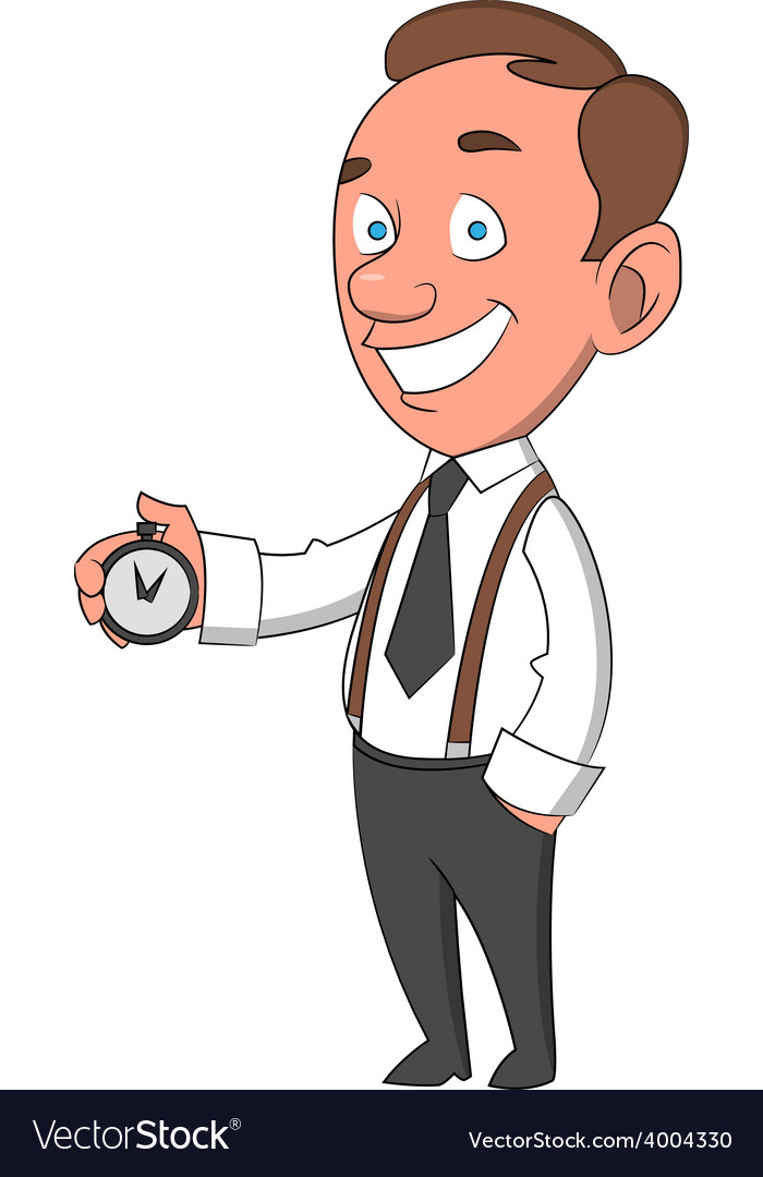 Man with timer vector | Price: 1 Credit (USD $1)