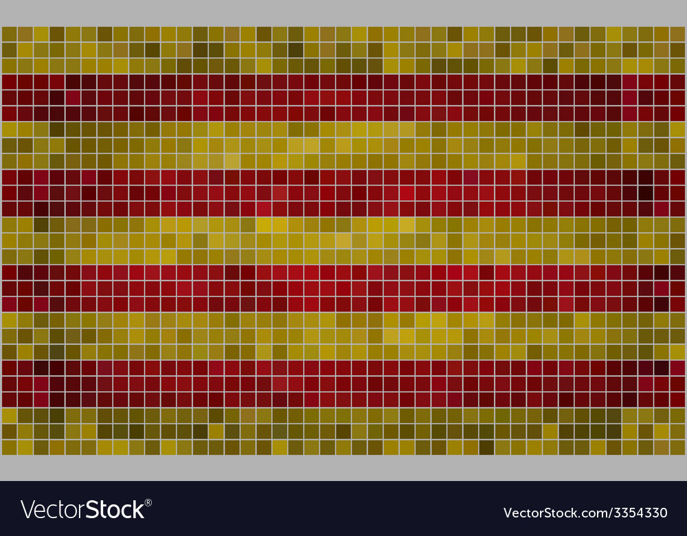 Mosaic flag of catalonia vector | Price: 1 Credit (USD $1)