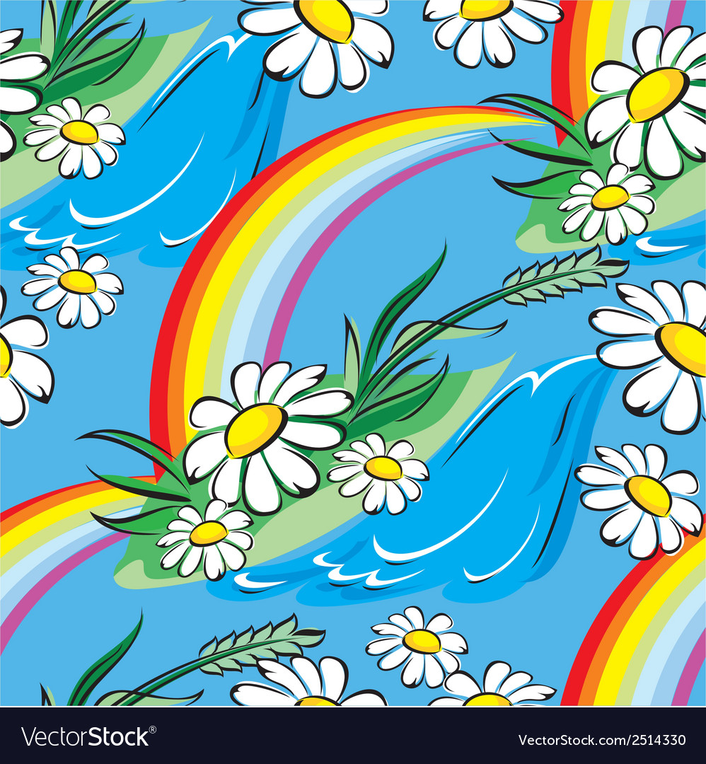 Spring rainbow seamless vector | Price: 1 Credit (USD $1)